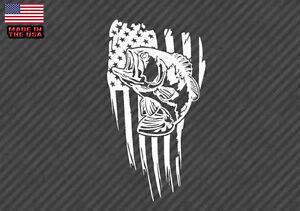 Download American Flag Bass Fish Sticker Decal Fishing Usa 10 Bassamerflagvc10 Ebay