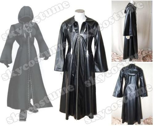 Kingdom Hearts XIII Organization Cosplay 2-WAY-BIG-ZIPPER Coat Cloak Costume
