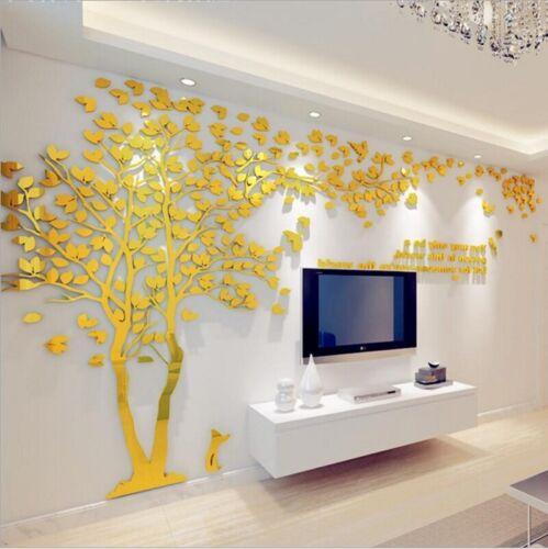 3D Acrilico Tree Casa Camera Arte Decorazione Fai Muro Adesivo Rimovibile