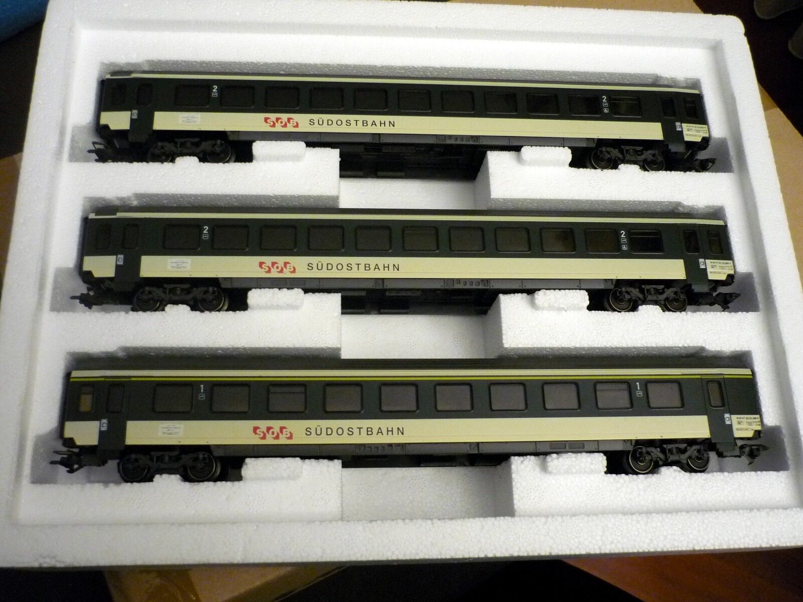 h0 42161 Express Train Set with interior lighting of sob, never used