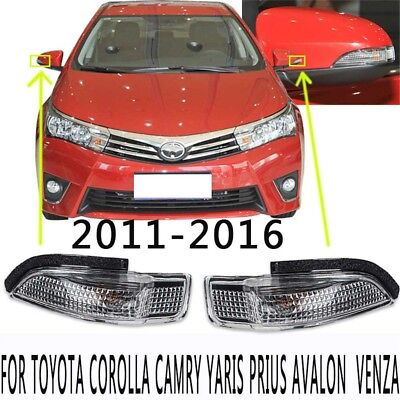 LH+RH Side Turn Signal Mirror Assemble LED Indicator Light For Toyota Prius Reiz