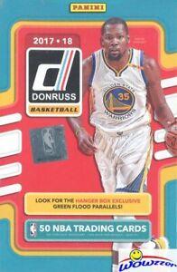 2017-18-Panini-Donruss-Basketball-EXCLUSIVE-HUGE-Sealed-Hanger-Box-50-Cards