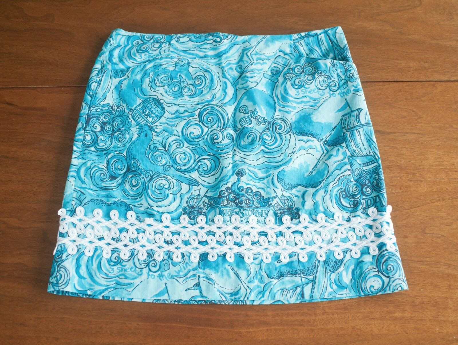 Vintage Lilly Pulitzer Size 6  Dark N Stormy  Roslyn Skirt Rare Holy Grail