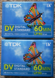 TDK MINI DV TAPES 90 Min LP 4 60 Min Video Cassette Digital Standard
