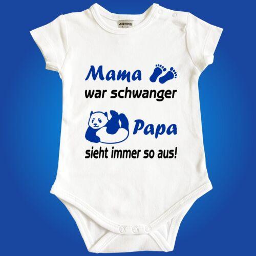 Babybody Baby Body Mama war schwanger Papa sieht immer so aus Jacky Strampler