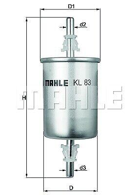 KL 83 Knecht Filtre à carburant pour SAAB 9-3 (YS3F)
