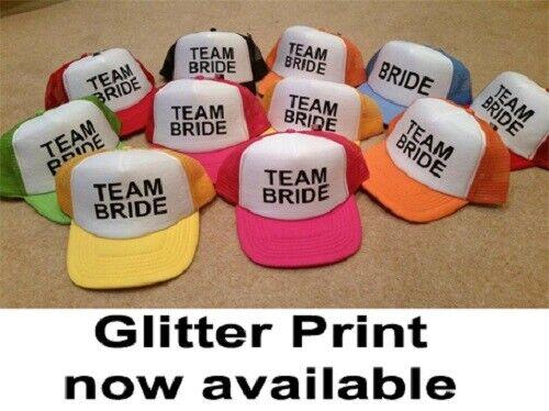 HEN STAG PARTY Half Mesh Baseball Trucker Rapper Cap Hat BRIDE TEAM BRIDE