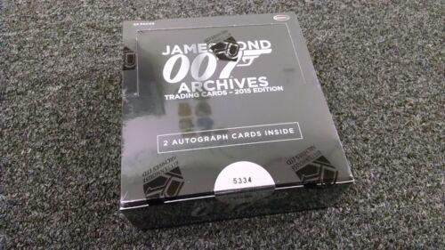 Factory Sealed Box w// 2 Autographs James Bond Archives 2015 Edition