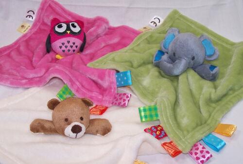 Schmusetuch Plüsch My little Bär Eule Elefant grün rosa Wunderbärchen NEU!