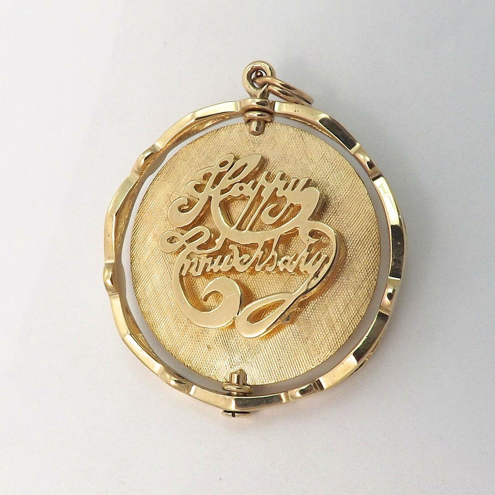324ded3f159ff Tree Pearl Disc Anniversary Spinning Large 14K of gold 8.9gr Pendant ...