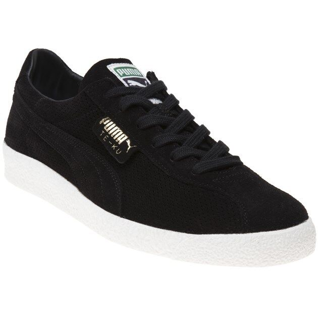 New Hommes Puma Noir Te-Ku Summer Suede Trainers Retro Lace Up
