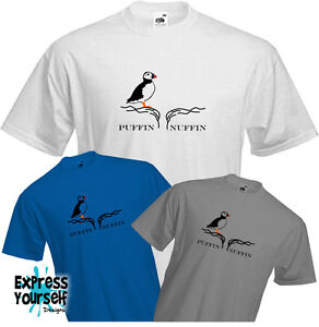 Puffin-T-Shirt-RSPB-Autumn-watch-Student-Cool-Retro-NEW