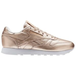 06adaccb986 Reebok Classic Leather Melted Metal (PEARL MET-PEACH WHITE) Women s ...