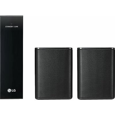 LG - Powered Wireless Rear Channel Speakers (Pair) - works with select LG sou...