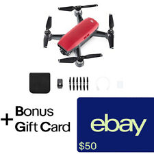 DJI Spark Lava Red Quadcopter Drone + $50 eBay Gift Card!