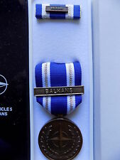 ORIGINAL NATO  MEDAL - BALKANS CURRENT ISSUE BRAND NEW IN BOX OF ISSUE