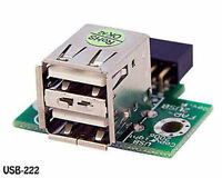 2 Port Usb 2.0 A Female To 10-pin (2x5) Motherboard Header Internal Adapter