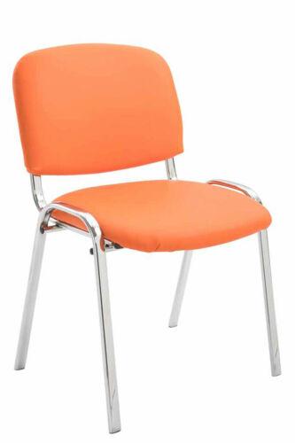 Besucherstuhl Ken C Kunstleder Wartezimmer Stuhl orange