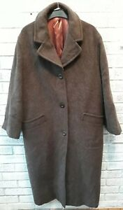 de Manteau mohair Taille et Laura Ashley d'alpaga en d'hiver Chocolate mélange 14 long Brown tRpRq6xwv