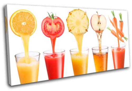 Fruit Juice drink Food Kitchen SINGLE CANVAS WALL ART Picture Print VA