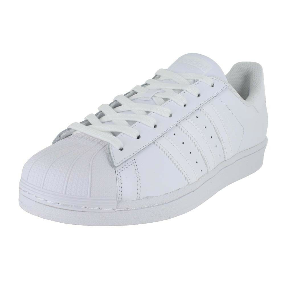 ADIDAS SUPERSTAR FOUNDATION Weiß Weiß B27136 MENS US GrößeS