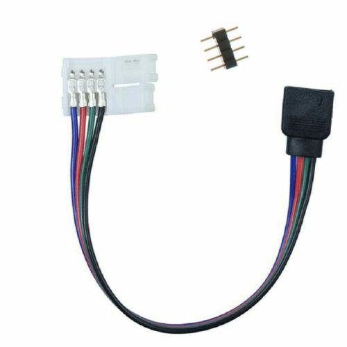 Verlängerungskabel LED RGB Streifen Strip Verbinder Verbindung Stecker 10mm