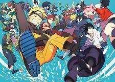 Poster A3 Naruto Shippuden Kakashi Sasuke Sakura Itachi Gaara 01