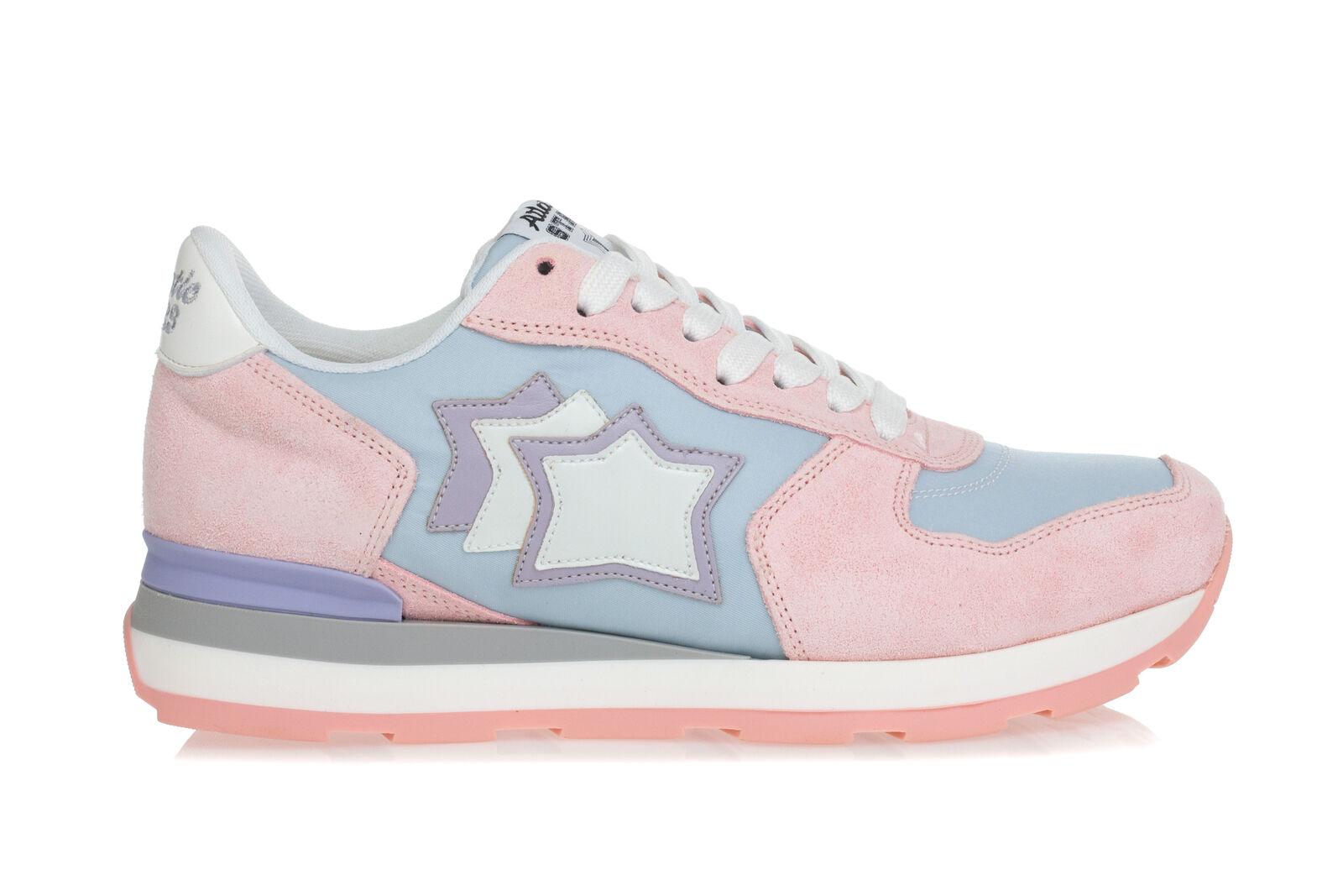 ATLANTIC STARS zapatos zapatillas mujer mujer mujer VEGA Running Tessuto Celeste Camoscio rosado  mejor calidad mejor precio