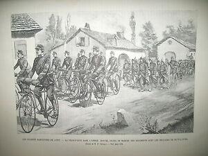 CYCLE-VELOCIPEDE-BRIGADE-CYCLISTE-RUSSIE-EMPEREUR-ALEXANDRE-III-GRAVURES-1891