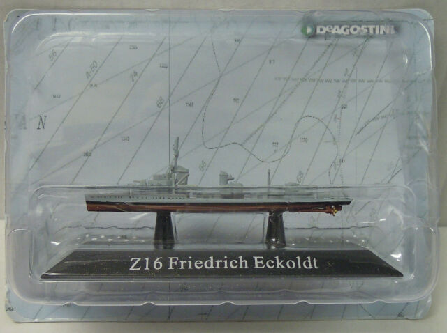 "Destroyer "" Z16 Friedrich Eckoldt "", 1936, Atlas , 1:1250, Finshed Model, New"