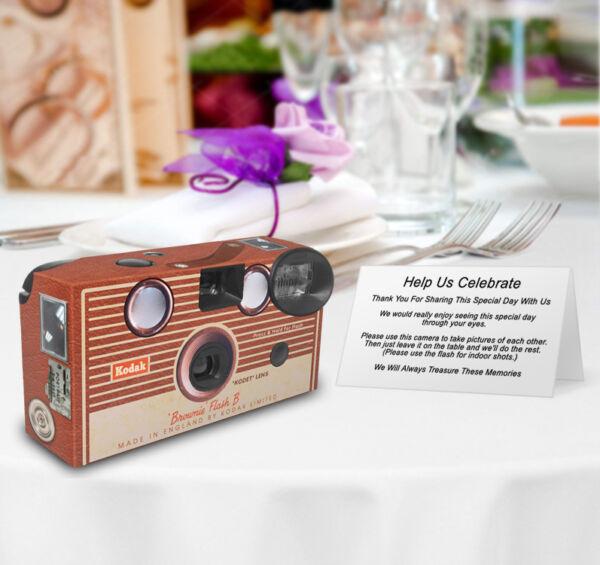 12 Kodak Brownie Vintage Personnalisé Mariage Appareils Photo Jetables, Rétro, Vintage-vintage