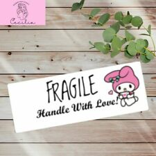 Fragile Thank You Stickers Labels Kawaii Pink 100pcs