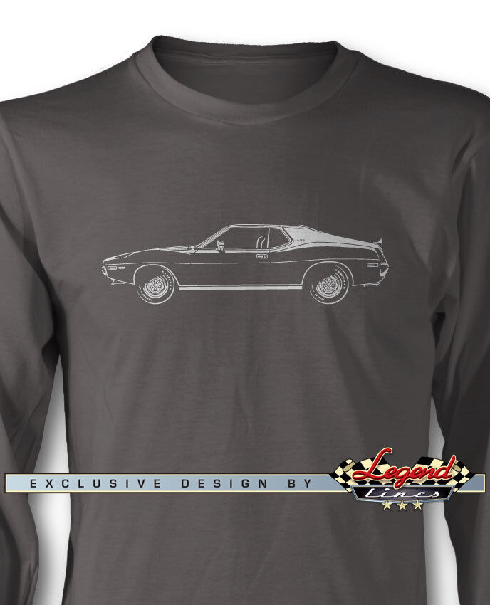 AMC Javelin 1971 - 1972 Coupe Long Sleeves T-Shirt - Multiple colors and Sizes