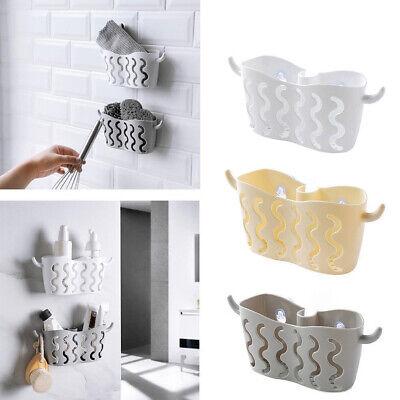 Bathroom Corner Shelf Suction Shower Cup Storage Wall Basket Rack Organizer Home