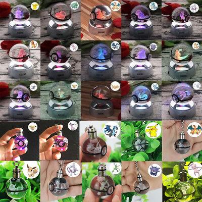Nachdenklich Pokemon 3d Led Kristall Tischlampe Nachtlicht Schlüsselanhänger Xmas Geschenk Grade Produkte Nach QualitäT