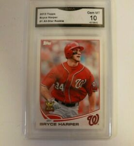 2013 Topps Rookie Cup #1 Bryce Harper Graded GMA 10