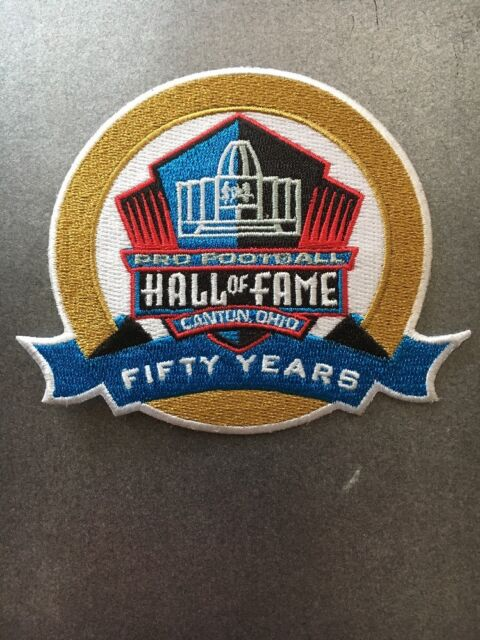NFL Pro Football Hall Of Fame 50Th Anniversary Patch