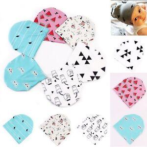 1fe6fd0b5556 Cartoon Newborn Baby Infant Girl Toddler Comfy Hospital Cap Warm ...