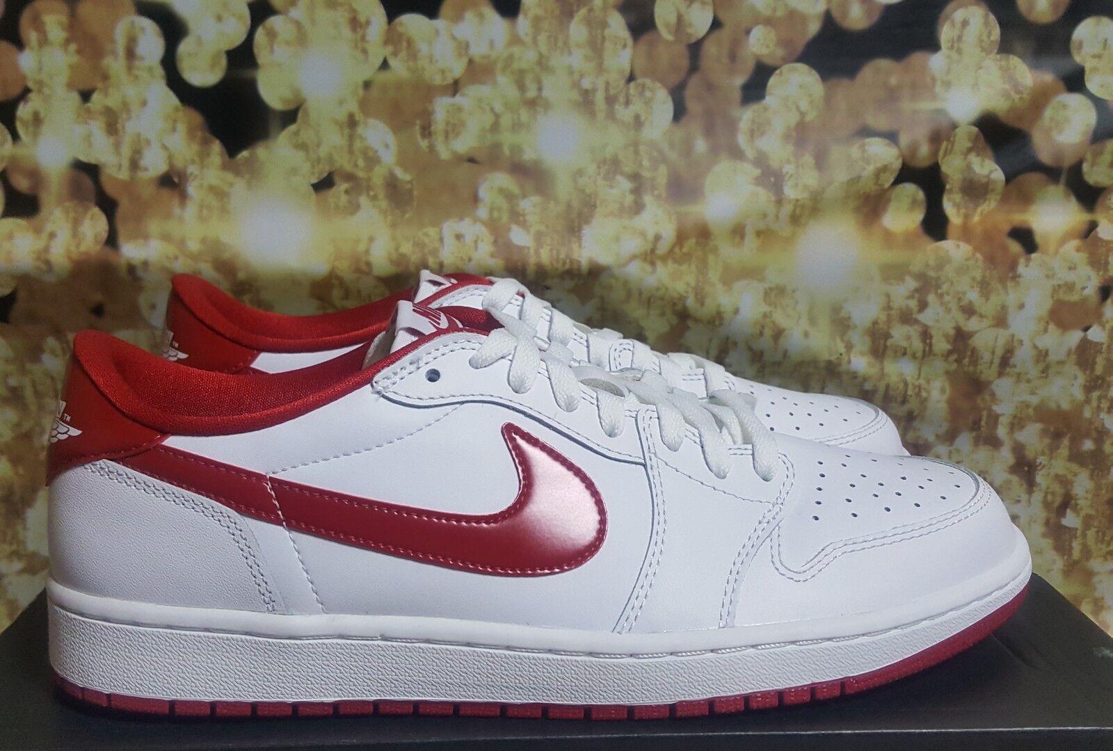 Air jordan 1 Retro Low OG White/Varsity Red/white size 10.5 Seasonal clearance sale
