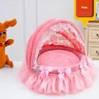 New Princess Pink Soft Pet Dog Cat Roof Bed House Sofa Mat Cushion Kennel S,M
