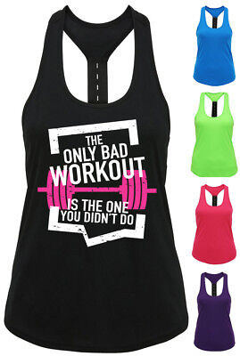 Ladies Sports Top Gilet Da Donna Wear Tank Racer-palestra Crossfit Danza Yoga T Shirt-