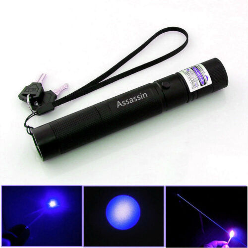 Assassin Blue Purple Laser Pointer 500Miles 405nm Lazer Pen+Char+18650 Pack of 2