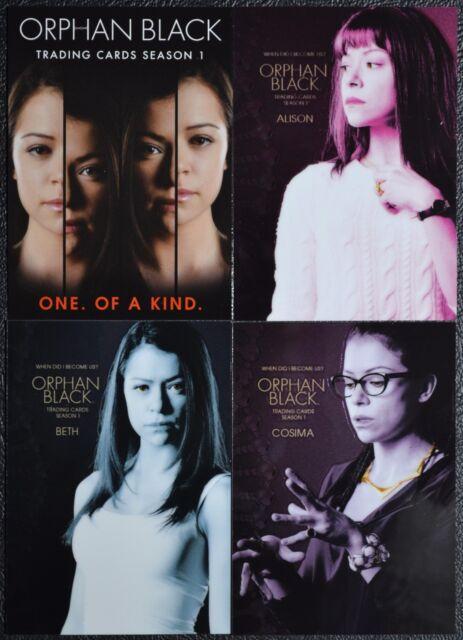 Cryptozoic Orphan Black Season 1 Cryptomium Promo Set P1 P2 P3 P4 Trading Cards
