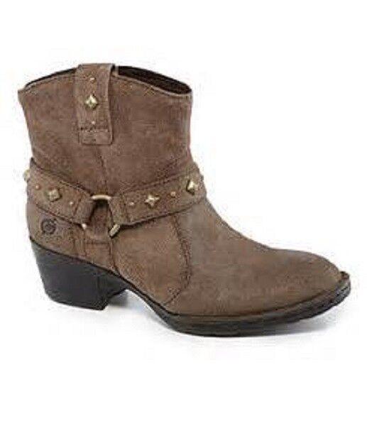 Born Laila gris Topo Gamuza botas botas botas Botines Nuevo en Caja Wmns occidental de cuero Talle 6 36.5 euros  compra en línea hoy
