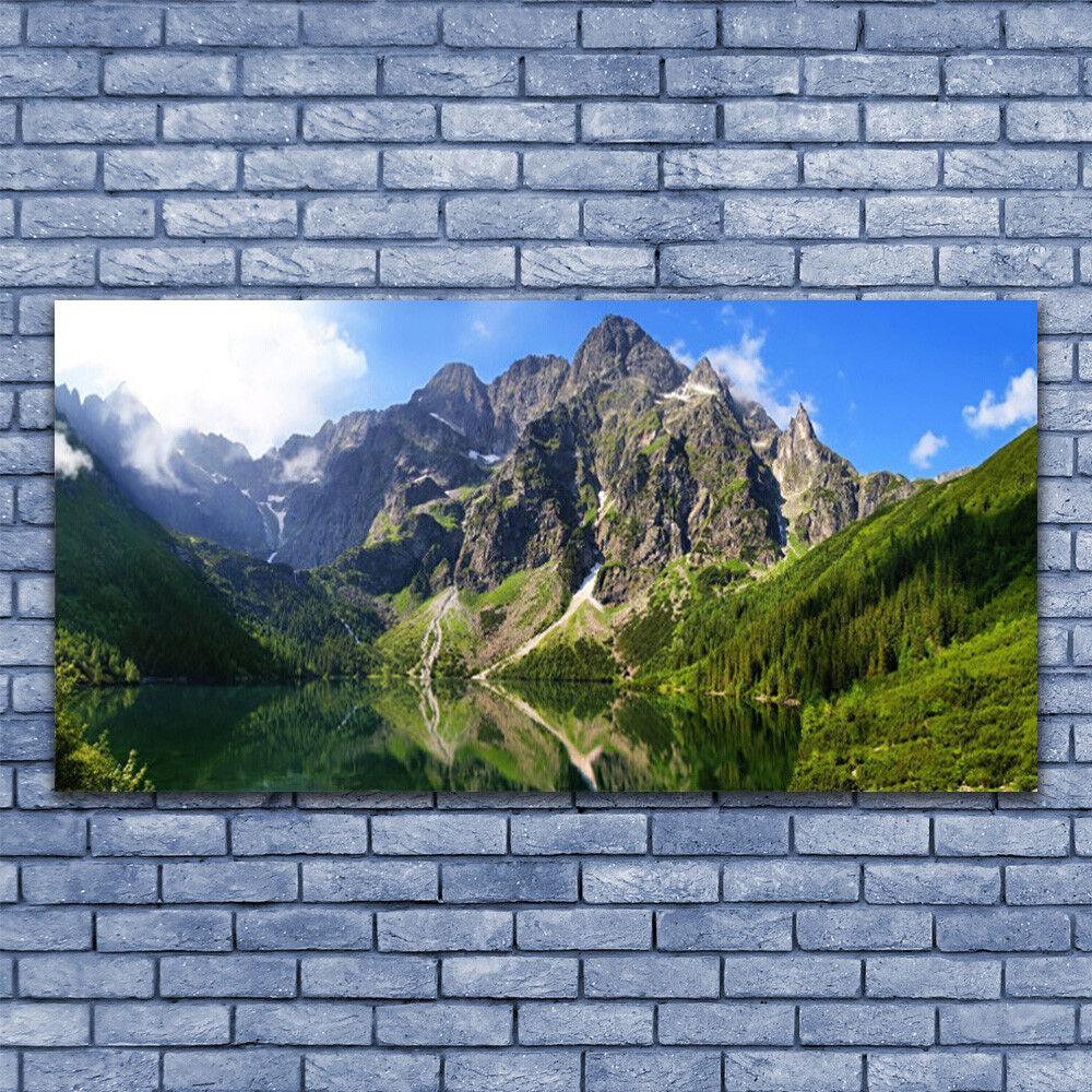 Wall art Print on Plexiglas® Acrylic 140x70 Mountain Lake Nature