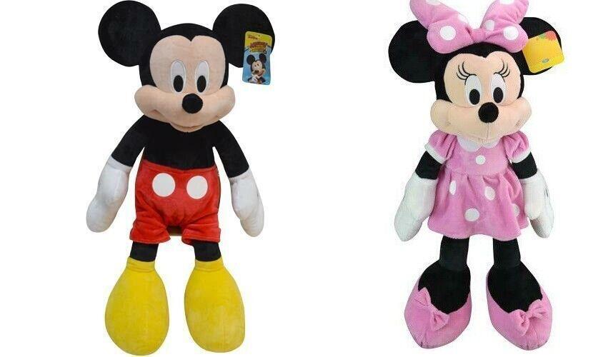 "11/"" Mickey Mouse Minnie Mouse Disney Plush Stuffed Toy 2pcs//set Great Gift"