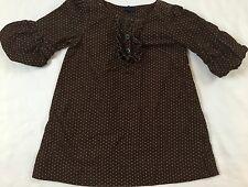Baby Gap Size 2 Years Portobello Brown & Pink Polka-dot Pinwale Corduroy Dress