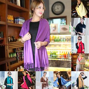 Fashion-Women-Winter-Warm-Scarf-Pashmina-Silk-Long-Shawl-Large-Wrap-US