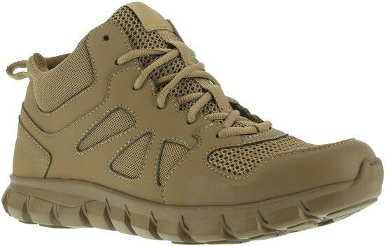 Reebok Men's Sublite Cushion Tactical Mid Coyote Boots - RB8406