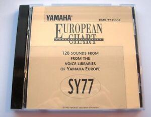 Details about Yamaha SY77 European Chart Voice Sound Set on Floppy Disk In  Original Case & Art